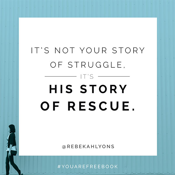 It's not your story of struggle. It's his story of rescue.